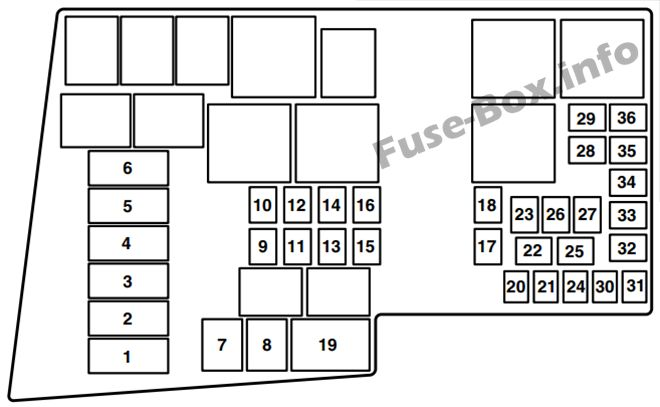 Fuse Box Diagram > Mazda 3 (BK; 2003-2009)