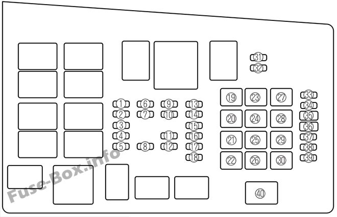 Fuse Box Diagram Mazda 6 (GG1; 2003-2008)