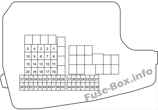 Fuse Box Diagram > Mazda 6 (GJ1/GL; 2013-2020)