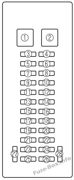Fuse Box Diagram > Mazda MPV (2000-2006)