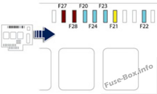 Fuse Box Diagram > Peugeot 508 (2011-2017)