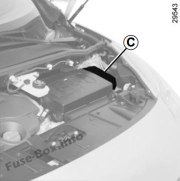 renault megane window motor wiring diagram how are fossils formed scenic iii 2010 2016 fuse box some accessories protected by fuses located in the engine compartment c however because of their reduced accessibility we advise you to