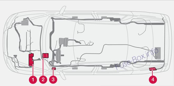 Fuse Box Diagram > Volvo S60 (2001-2009)