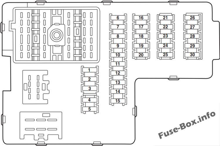 Fuse Box Diagram > Ford Explorer (2002-2005)