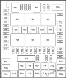 Fuse Box Diagram Ford F-150 (2004-2008)