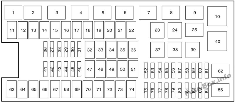 2009 Ford F 250 Fuse Box Diagram / Interior Fuse Box
