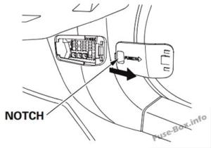 Fuse Box Diagram Honda Crosstour (2011-2015)