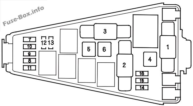 Fuse Box Diagram > Honda Fit (GD; 2007-2008)