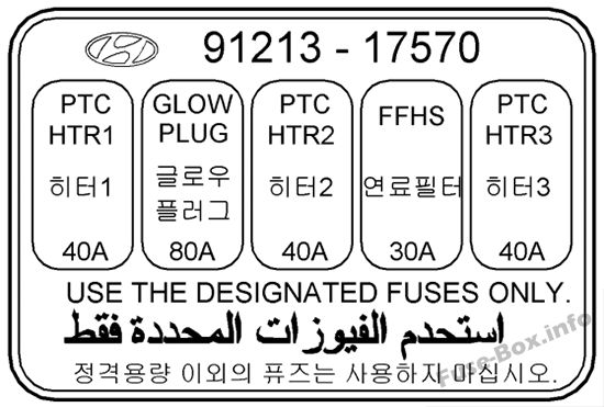 Fuse Box Diagram > Hyundai Matrix (2002-2008)
