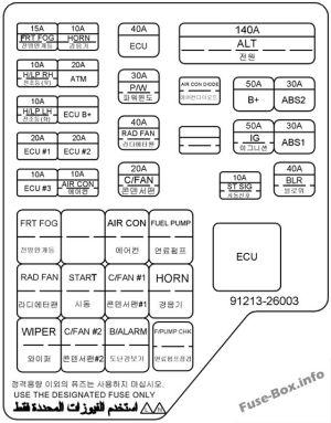 Fuse Box Diagram > Hyundai Santa Fe (SM; 20012006)