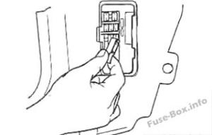 Fuse Box Diagram KIA Spectra / Sephia (2001-2004)