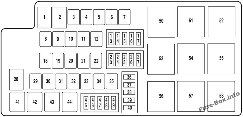 Fuse Box Diagram > Ford Mustang (2010-2014)