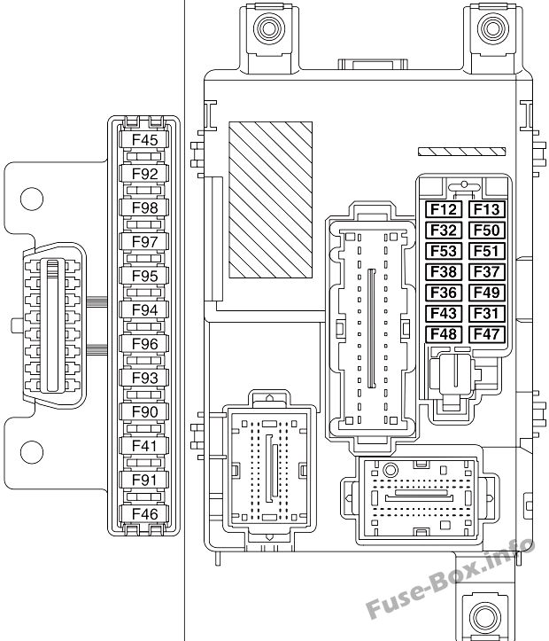 Fuse Box Diagram Fiat Doblo (mk2; 2010-2018)