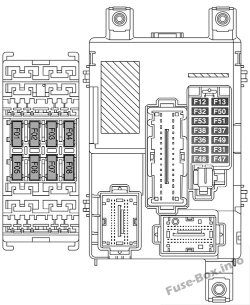 Fuse Box Diagram > Fiat Doblo (mk2; 2010-2018)