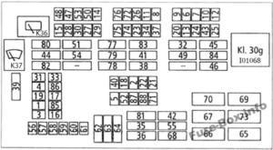 Fuse Box Diagram BMW 3-Series (E90/E91/E92/E93; 2005-2013)