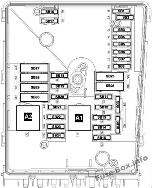 Fuse Box Diagram > Volkswagen Golf V (mk5; 2004-2009)