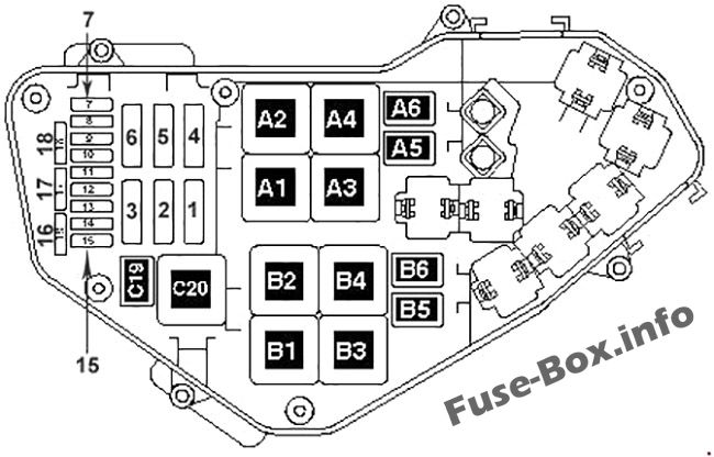 Fuse Box Diagram Volkswagen Touareg (2002-2005)