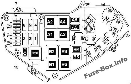Fuse Box Diagram Volkswagen Touareg (2006-2010)