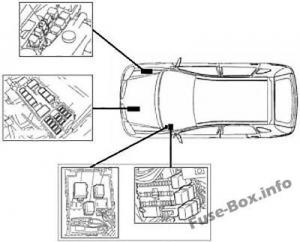 Fuse Box Diagram Nissan Almera II (N16; 2000-2006)