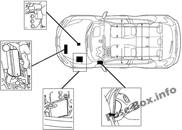 Fuse Box Diagram > Nissan Juke (F15; 2011-2017)