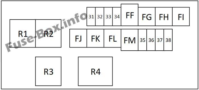 Fuse Box Diagram > Nissan Qashqai / Qashqai+2 (2007-2013)