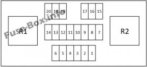 Fuse Box Diagram Nissan Qashqai / Qashqai+2 (2007-2013)