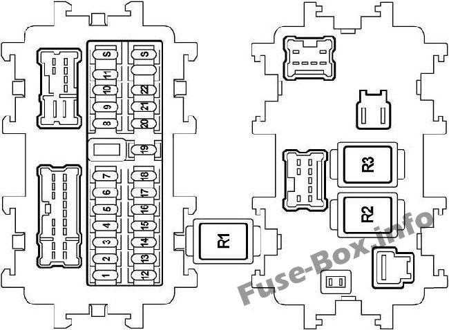 Fuse Box Diagram Nissan Teana (J31; 2003-2008)