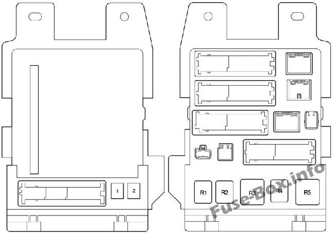 Fuse Box Diagram Toyota Avalon (XX30; 2005-2012)