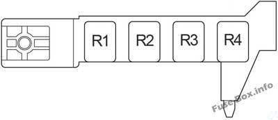 Fuse Box Diagram Toyota Avensis II (T25/T250; 2003-2009)