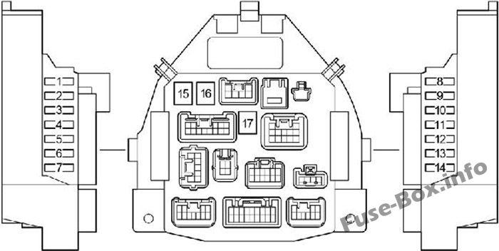 Fuse Box Diagram > Toyota Aygo (AB10; 2005-2014)