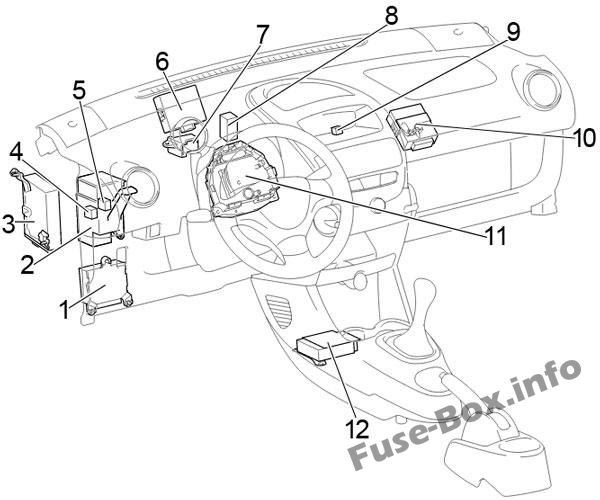 Fuse Box Diagram > Toyota Aygo (AB10; 2005-2014)