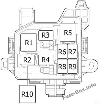 Fuse Box Diagram Toyota Aygo (AB40; 2014-2019-..)
