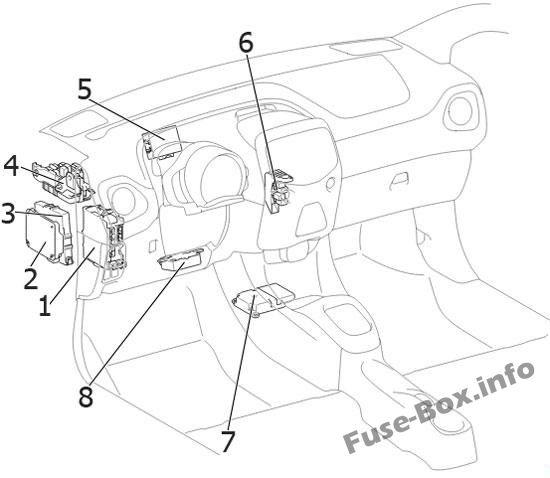 Fuse Box Diagram Toyota Aygo (AB40; 2014-2019-..)
