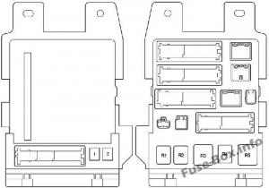 Fuse Box Diagram Toyota Camry (XV40; 2007-2011)