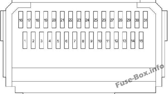 Fuse Box Diagram Toyota HiAce (H200; 2014-2018)