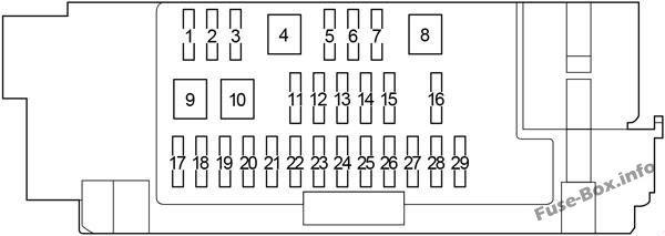 Fuse Box Diagram > Toyota Hilux (AN120/AN130; 2015-2019-..)