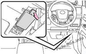 Fuse Box Diagram Toyota Land Cruiser 200/J200/V8 2008-2018