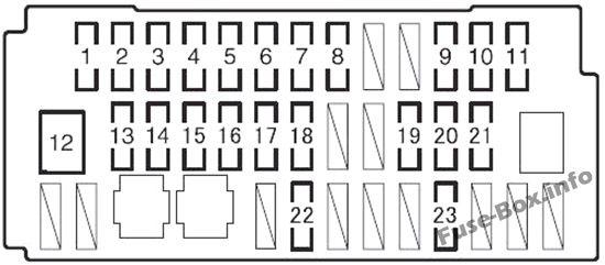 Fuse Box Diagram > Toyota Prius C (2012-2017)
