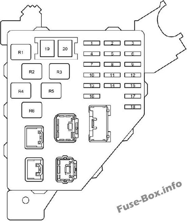 Fuse Box Diagram > Toyota Prius (XW11; 2000-2003)