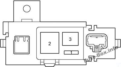 Fuse Box Diagram Toyota Prius (XW11; 2000-2003)