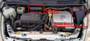 Fuse Box Diagram > Toyota Prius (XW20; 20042009)