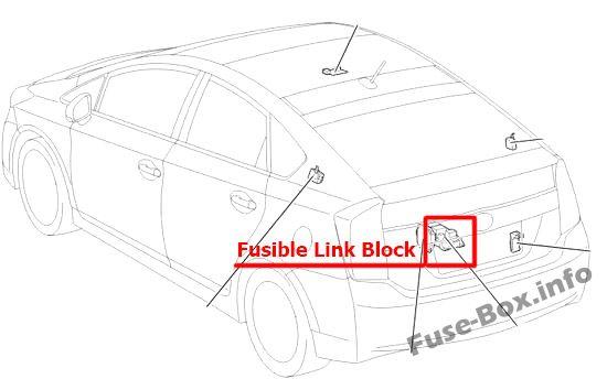 Fuse Box Diagram Toyota Prius (XW30; 2010-2015)