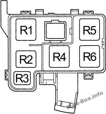Fuse Box Diagram > Toyota RAV4 (XA10; 1995-1997)