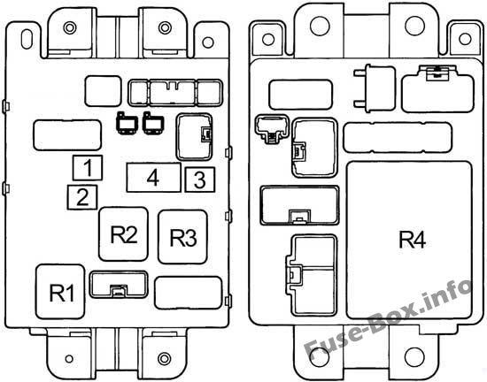Fuse Box Diagram Toyota RAV4 (XA10; 1995-1997)