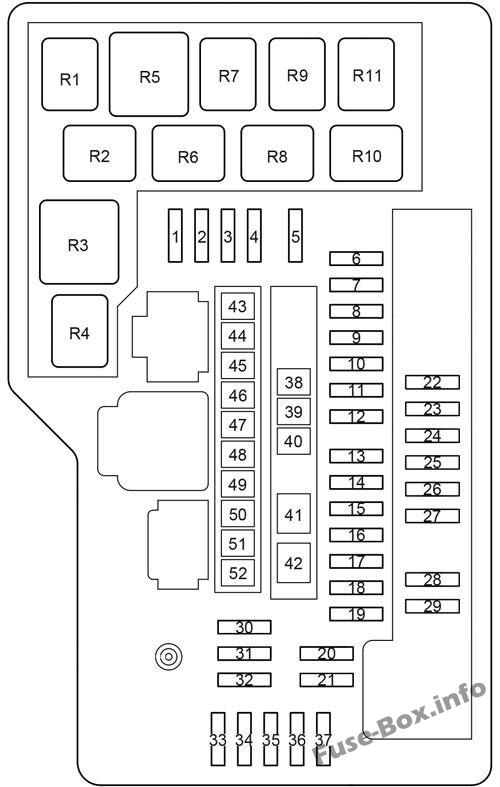 Fuse Box Diagram Toyota Venza (2009-2017)