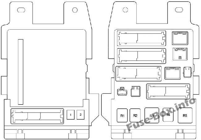 Fuse Box Diagram > Toyota Venza (2009-2017)