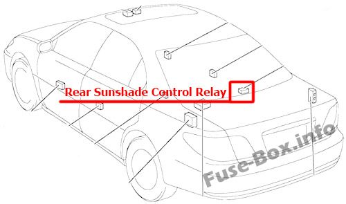 Fuse Box Diagram Lexus ES300 / ES330 (XV30; 2001-2006)