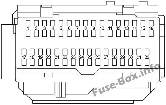 Fuse Box Diagram Lexus ES350 (XV40/GSV40; 2006-2012)