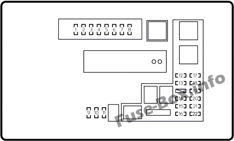 Fuse Box Diagram Lexus GS250 / GS350 (L10; 2012-2017)
