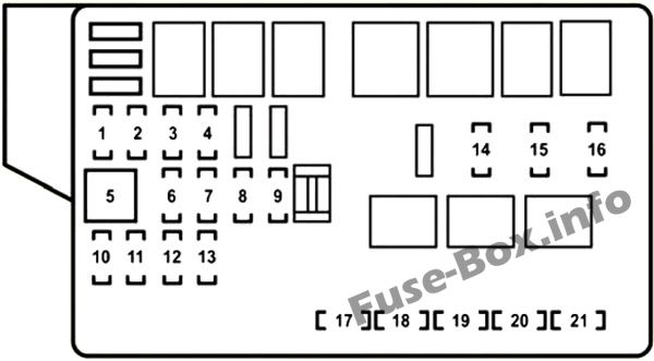 Fuse Box Diagrams > Lexus GS350 / GS430 / GS460 (2006-2011)